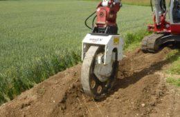 rueda compactadora para brazo excavador